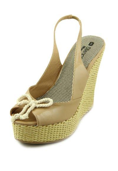 Sandale platforma ieftine cu material textil