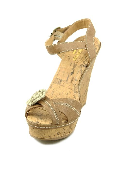 Sandale cu platforma Blanco cu floare