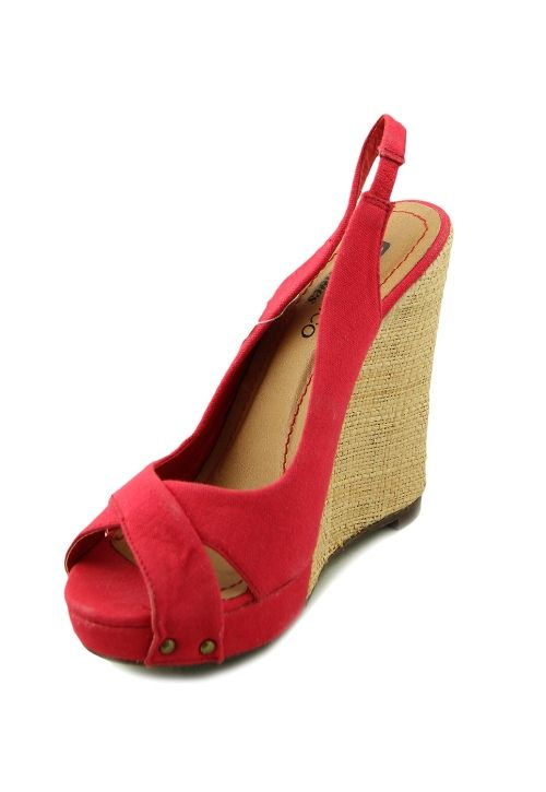 Sandale platforma rosii