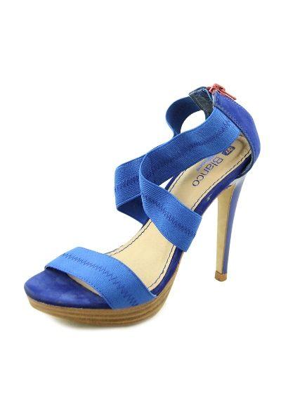 Sandale albastre cu platforma