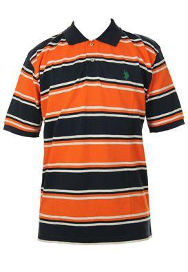 Tricouri US Polo cu maneca scurta pentru barbati, in dungi