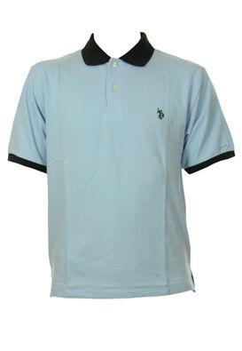 Tricouri US Polo pentru barbati, uni cu guler contrast