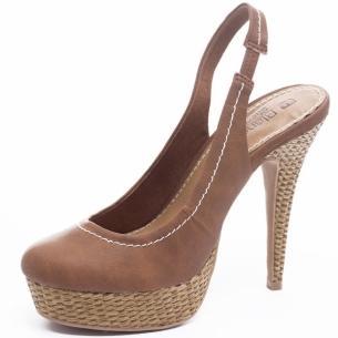 Pantofi cu platforme decupati la spate