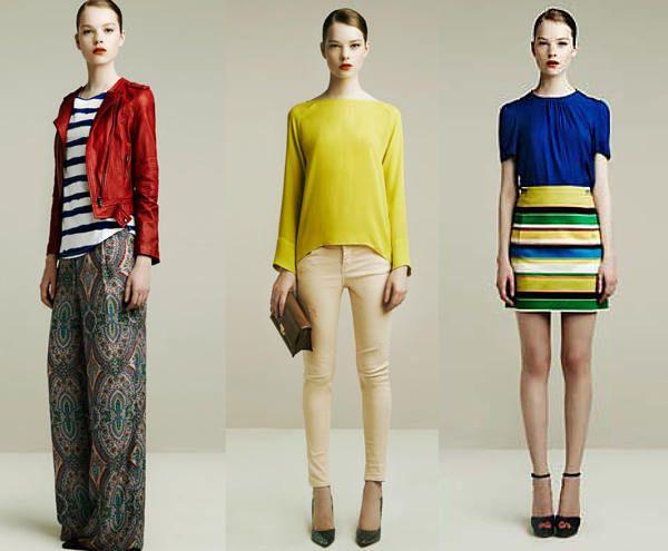 Blocurile de culori in hainele Zara