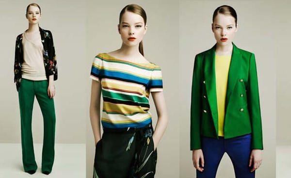 Blocurile de culori la hainele Zara