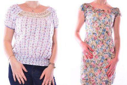Bluza Zara, alba cu floricele-Rochie Zara mulata pe corp