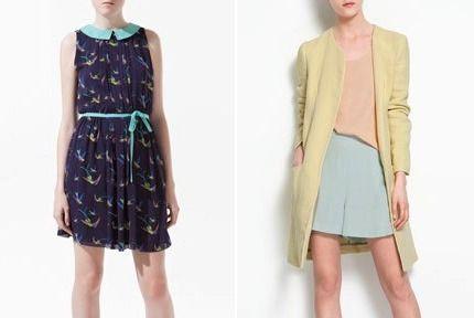 Guler Peter Pan la rochie Zara-Culori pastel nuante de inghetata