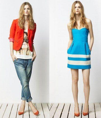 Haine Zara culori puternice in tendinte-Haine Zara culori puternice, in tendinte turcoazul