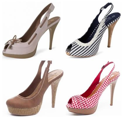 Pantofi cu platforme decupati la calcai