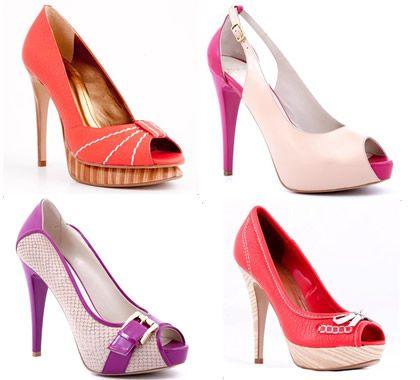 Pantofi ocazie cu peep toe