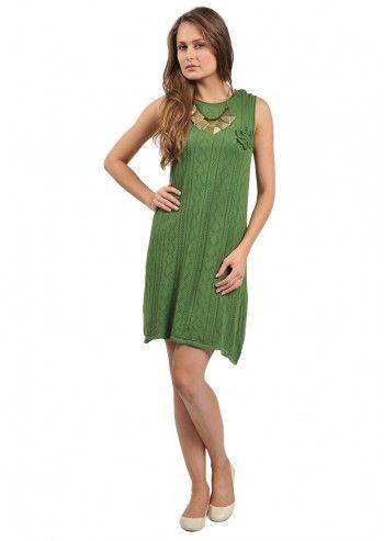 Rochie tricotata verde avocado