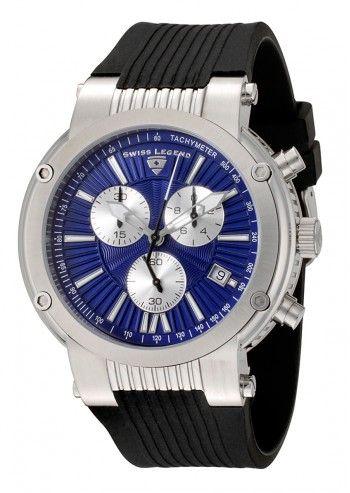 Swiss Legend, Ceas barbatesc cronograf negru&albastru Legato Cirque