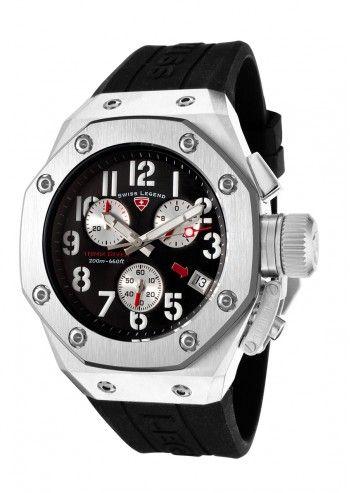 Swiss Legend, Ceas barbatesc cronograf negru Timix