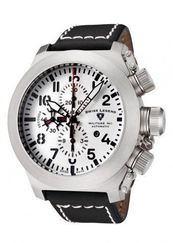 Swiss Legend, Ceas negru barbatesc cronograf Militaire