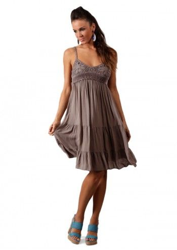 Chic Dressing, Rochie maro taupe Tania