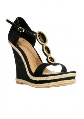 Sandale negre Sweet Pardise