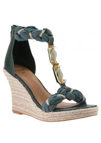 Vkingas, Sandale wedge Dark Green Amy