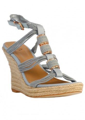 Sandale wedge Azure Blue Vera