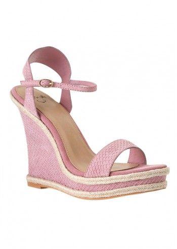 Sandale cu platforma inalta roz