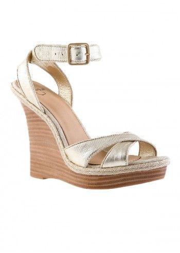 Sandale aurii din piele Rocio