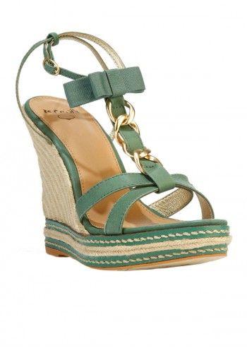 Sandale verzi cu platforma
