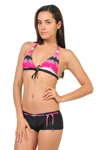 Costum de baie roz&negru Anabelle