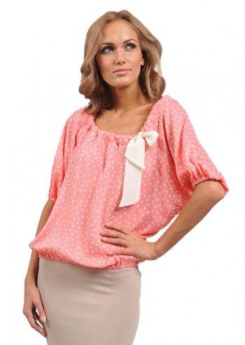 Bluza roz cu buline