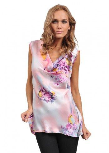 Bluza roz Oriental Beauty