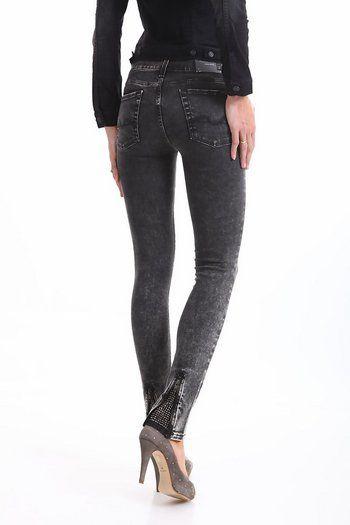Jeans skinny gri deschis