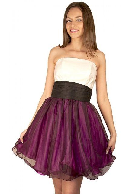 Rochie RVL corset cu voal mov
