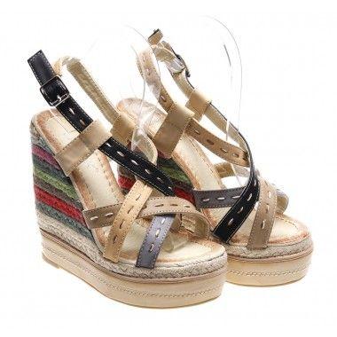 Sandale cu platforma si talpa ortopedica