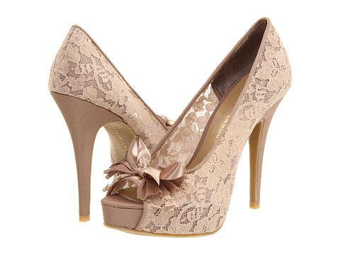 Pantofi de ocazie cu platforme, din dantela