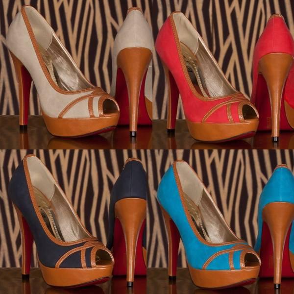 Pantofi de zi cu platforme, stilul casual