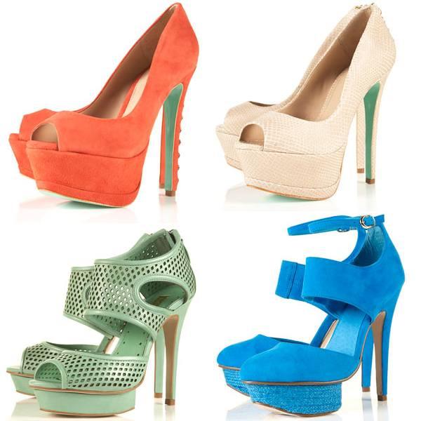 Pantofi platforma de vara Topshop