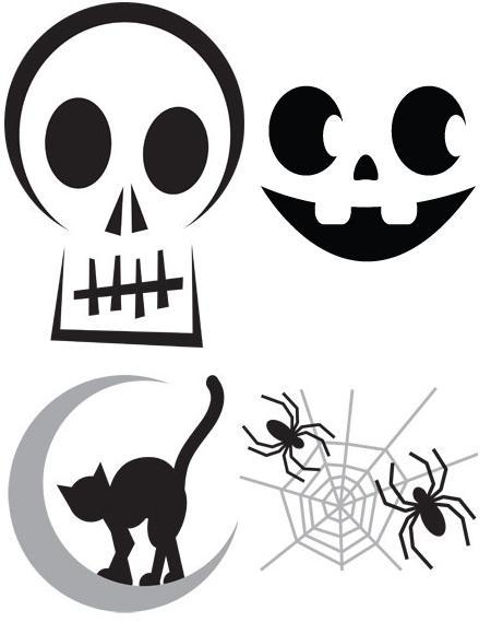 Modele pentru decupat dovleci de Halloween