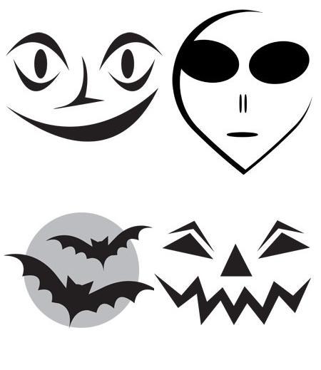 Modele pentru decupat dovleci de Halloween2