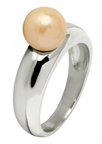 Finelli, Lovely Look Peach Pearl Ring