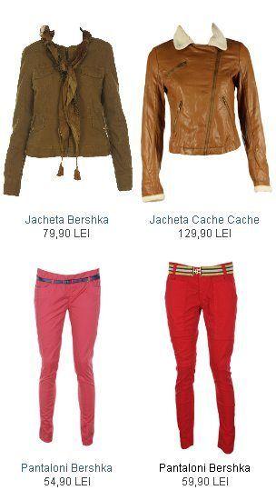 Jachete, pantaloni Zara, Bershka, Cache Cache