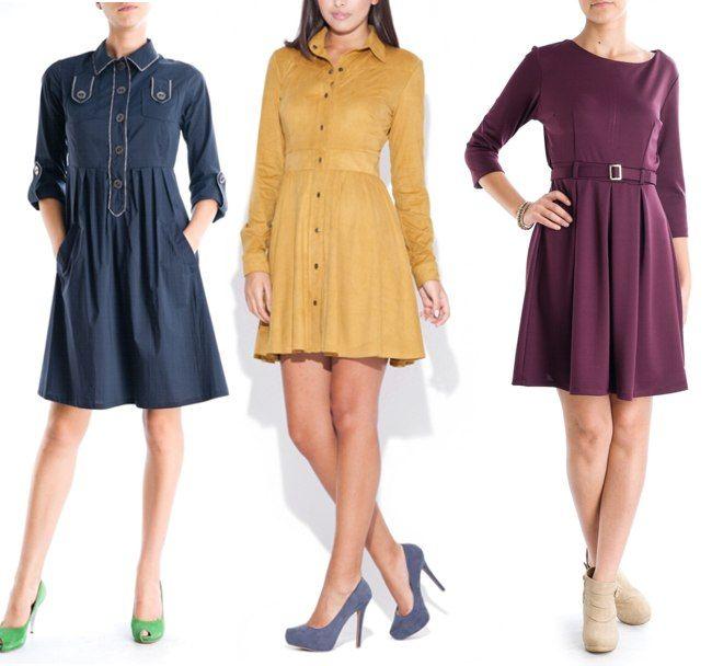 Noi modele de rochii pentru toamna iarna