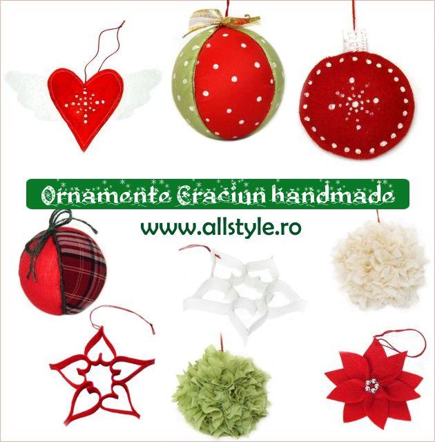 Ornamente Craciun handmade din pasla