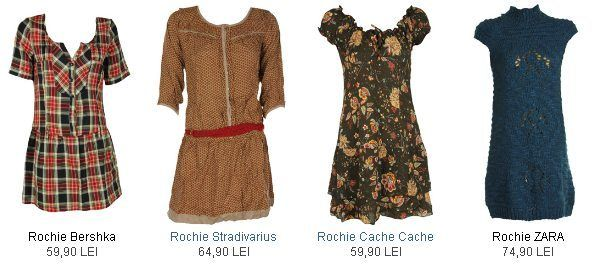 Rochii Zara, Bershka
