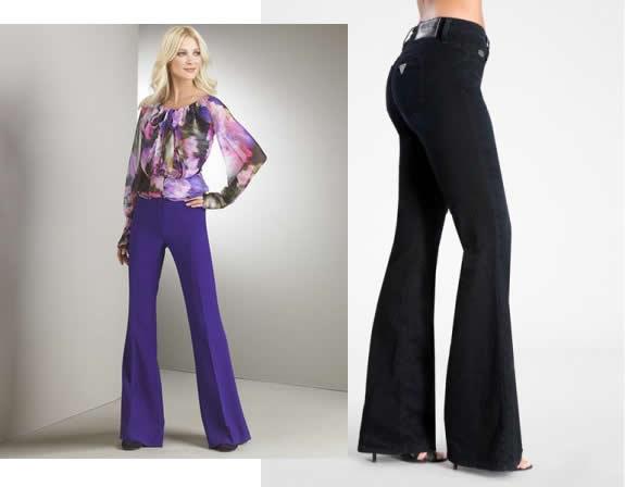 Pantalonii dama evazati