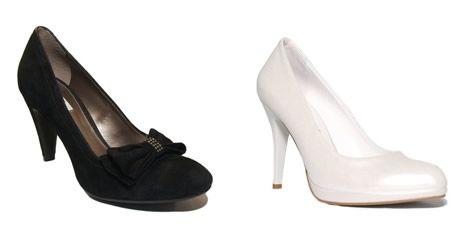 Pantofi albi si negri din piele
