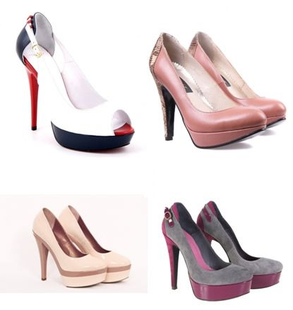 Pantofi cu platforma elegante
