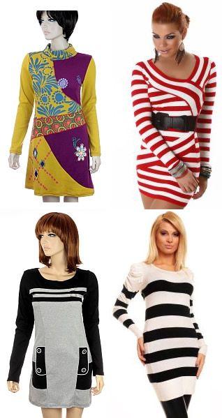 Rochii tricotate colorate