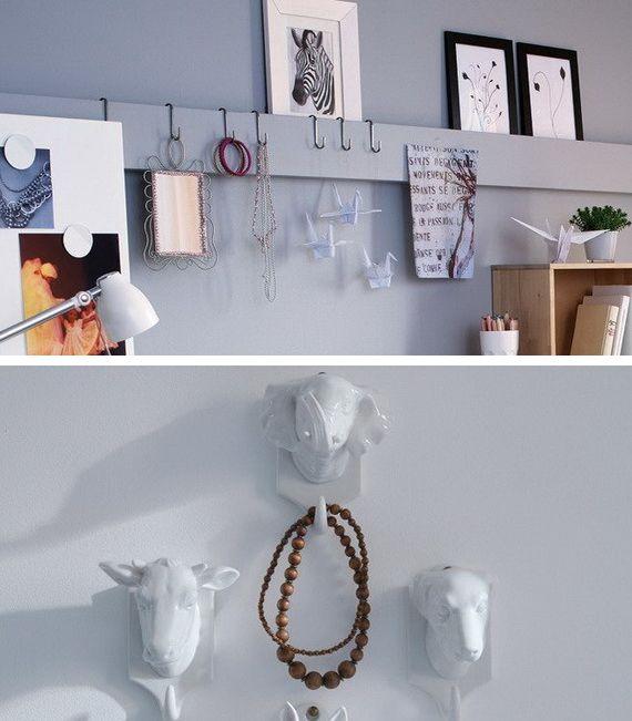 Moduri creative de a folosi peretii pentru pastrarea bijuteriilor