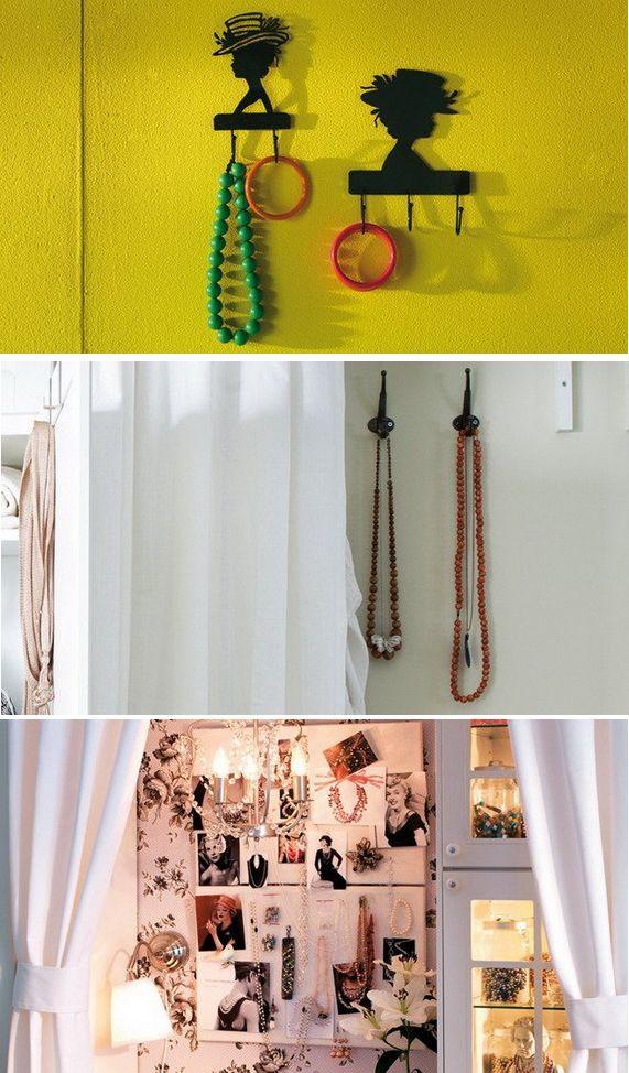 Stocarea bijuteriilor pe perete