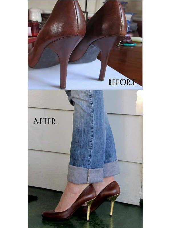 Cum faci ca nou un toc de pantof zgariat