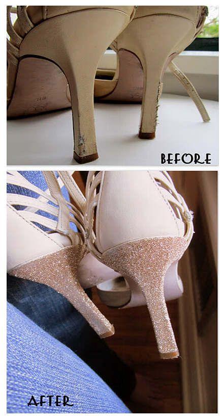 Cum faci sandale cu toc colorat auriu