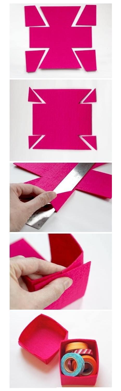 Cum faci singur o cutiuta din pasla